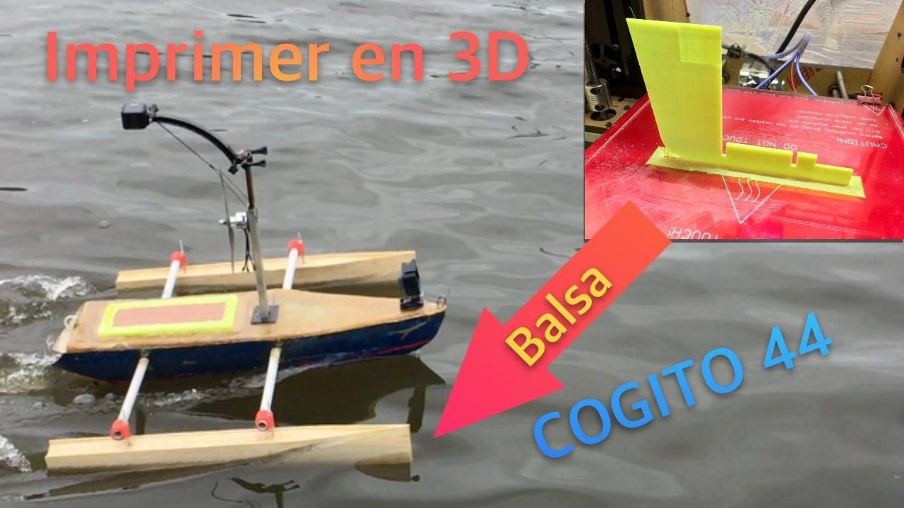 bateau amorceur imprimante 3d