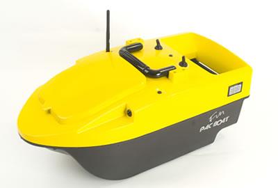 bateau amorceur jaune