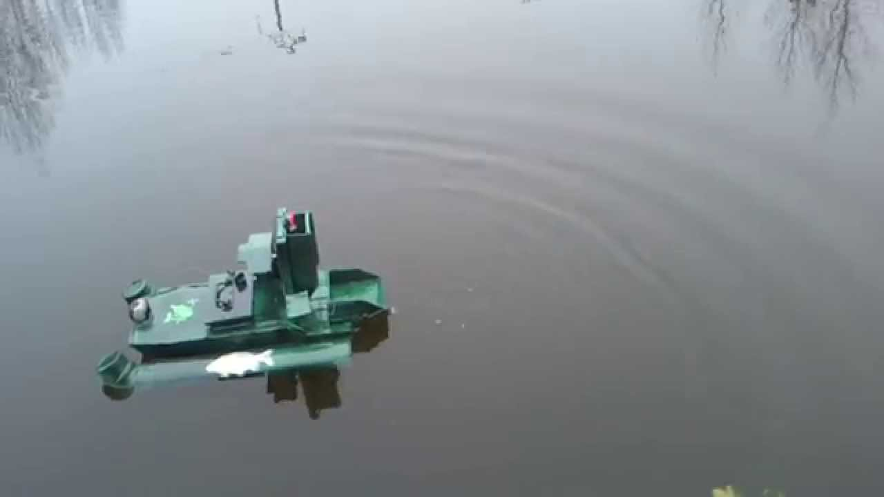 bateau amorceur largage ligne