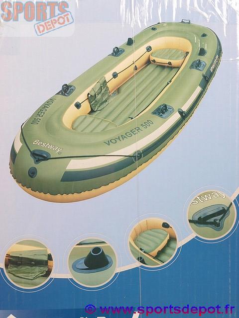 bateau gonflable bestway voyager 500 set complet