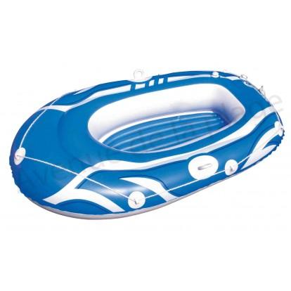bateau gonflable bleu