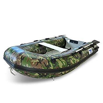 bateau gonflable camouflage