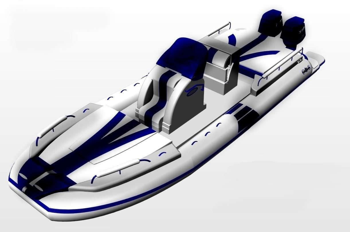 bateau gonflable de luxe