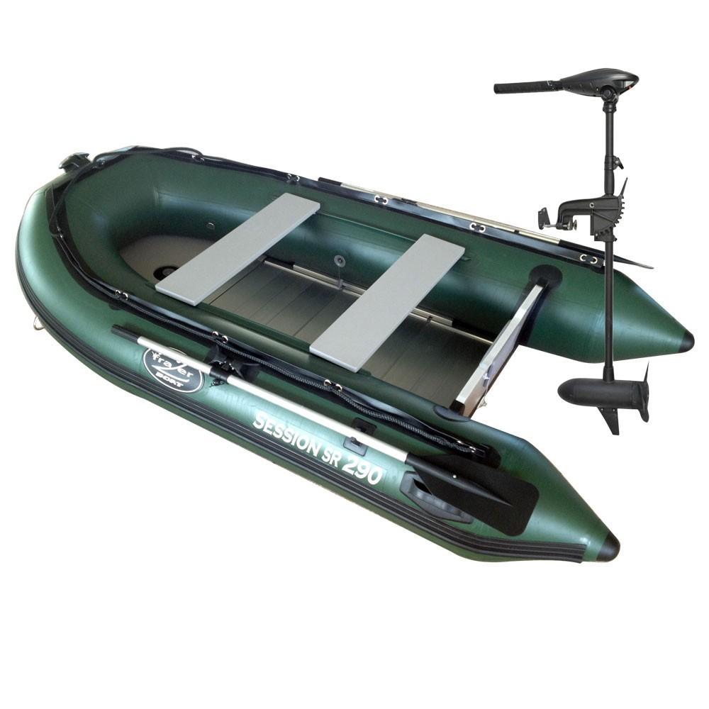 bateau gonflable en magasin