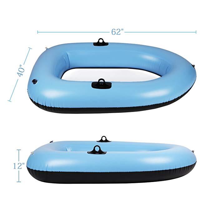 bateau gonflable fond transparent