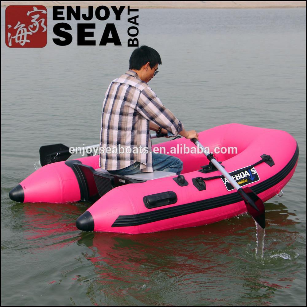 bateau gonflable rose