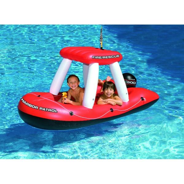 bateau gonflable sur la seine