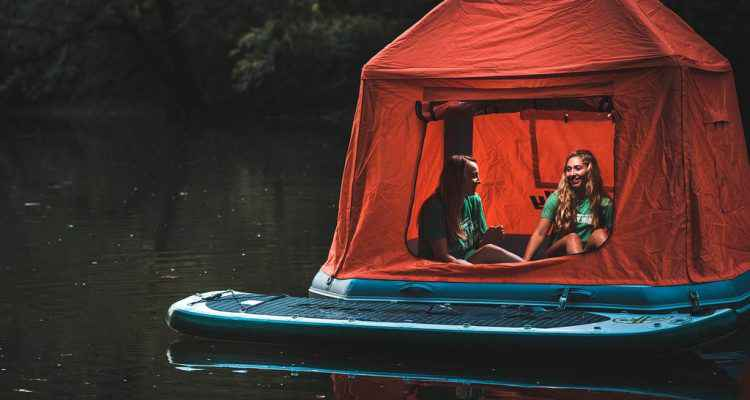 bateau gonflable tente