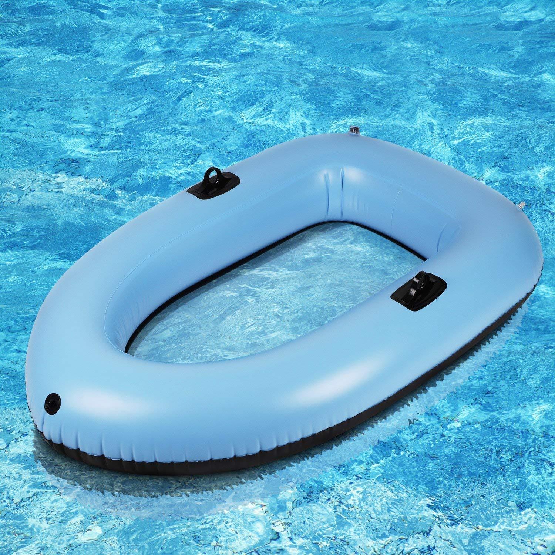 bateau gonflable transparent
