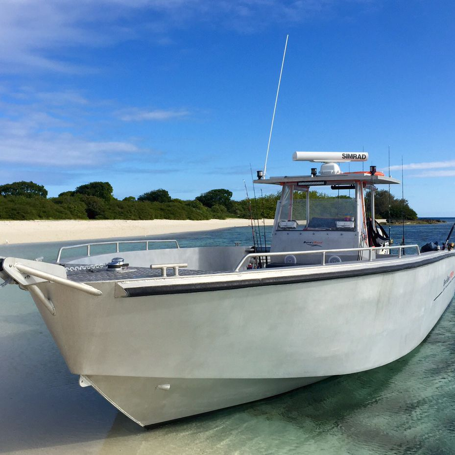 bateau peche alu