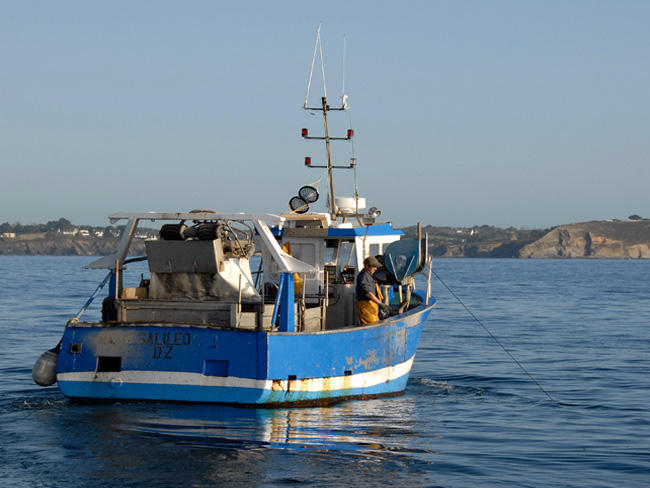 bateau peche crustaces