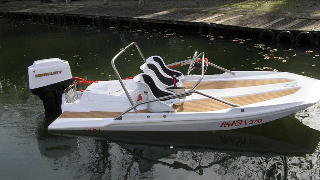 bateau peche fond plat