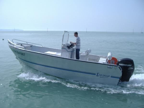 bateau peche mer aluminium