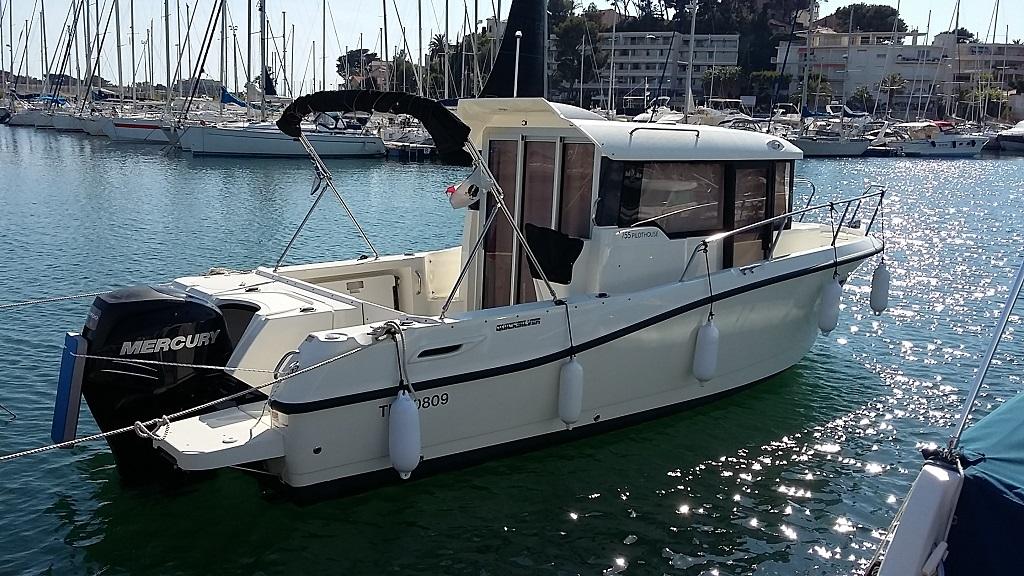 bateau peche promenade 8 metres