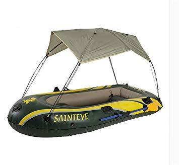 bateau gonflable avec parasol