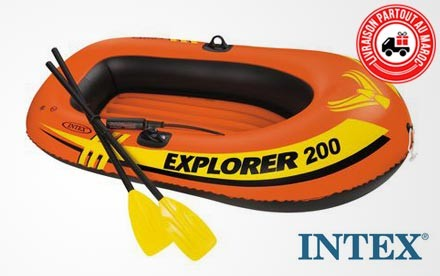 bateau gonflable orange