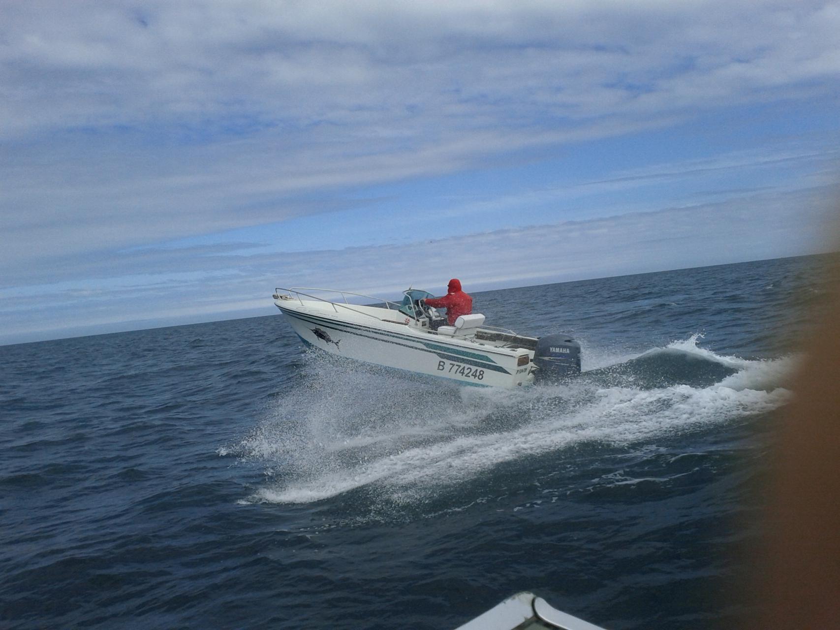 bateau peche en mer dieppe