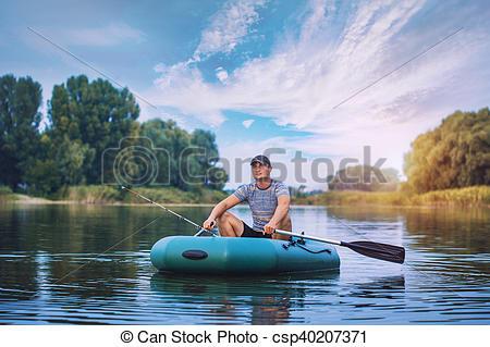 bateau peche etang
