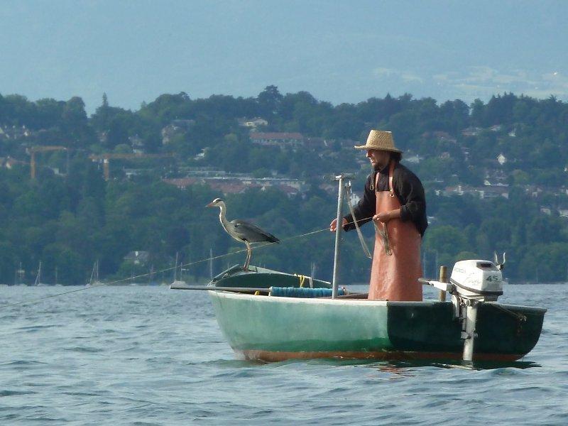 bateau peche lac leman