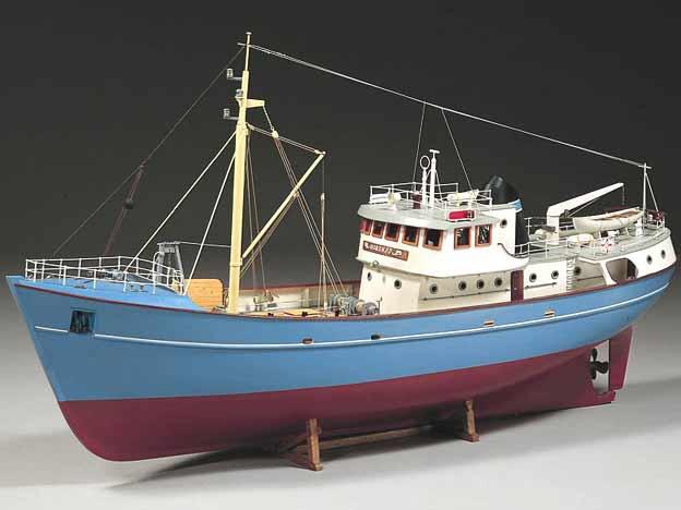 bateau peche miniature