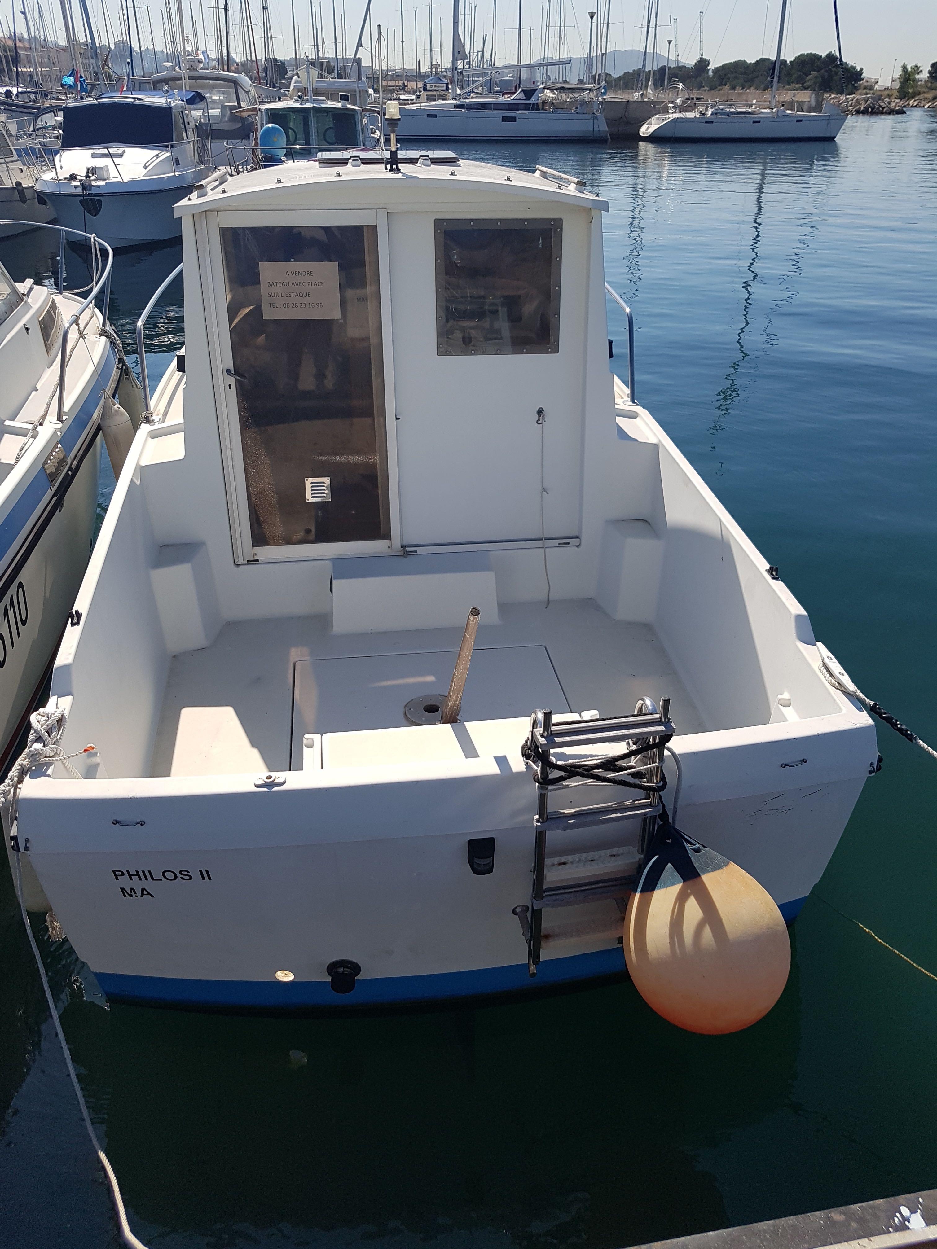 bateau peche promenade 6m occasion
