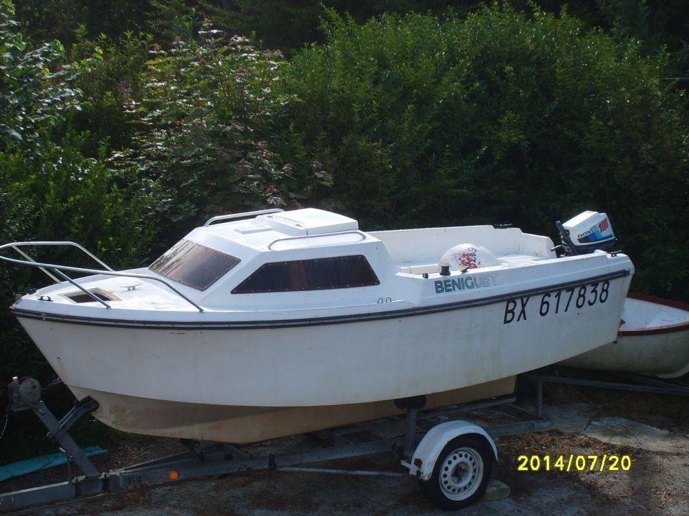 bateau peche promenade jeanneau