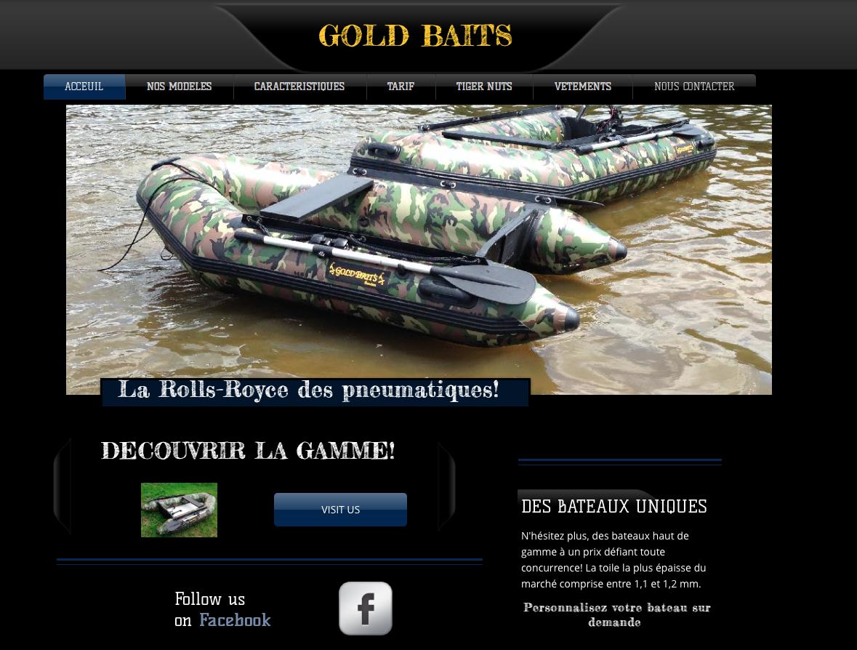 bateau pneumatique gold baits
